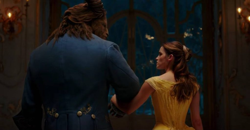 Belle and the Beast in the new Disney remake