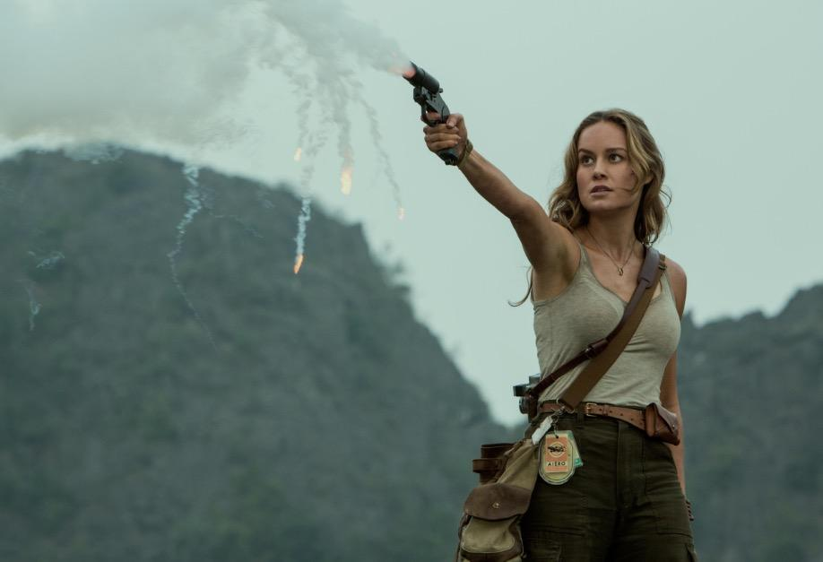 Brie Larson fires a flare in Kong: Skull Island