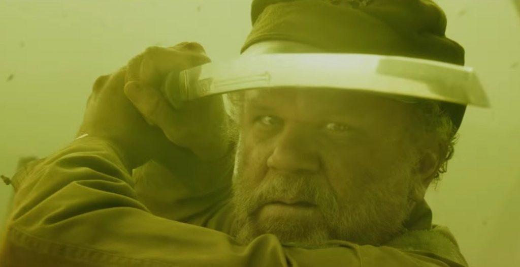 John C. Reilly brandishes a katana in Kong: Skull Island