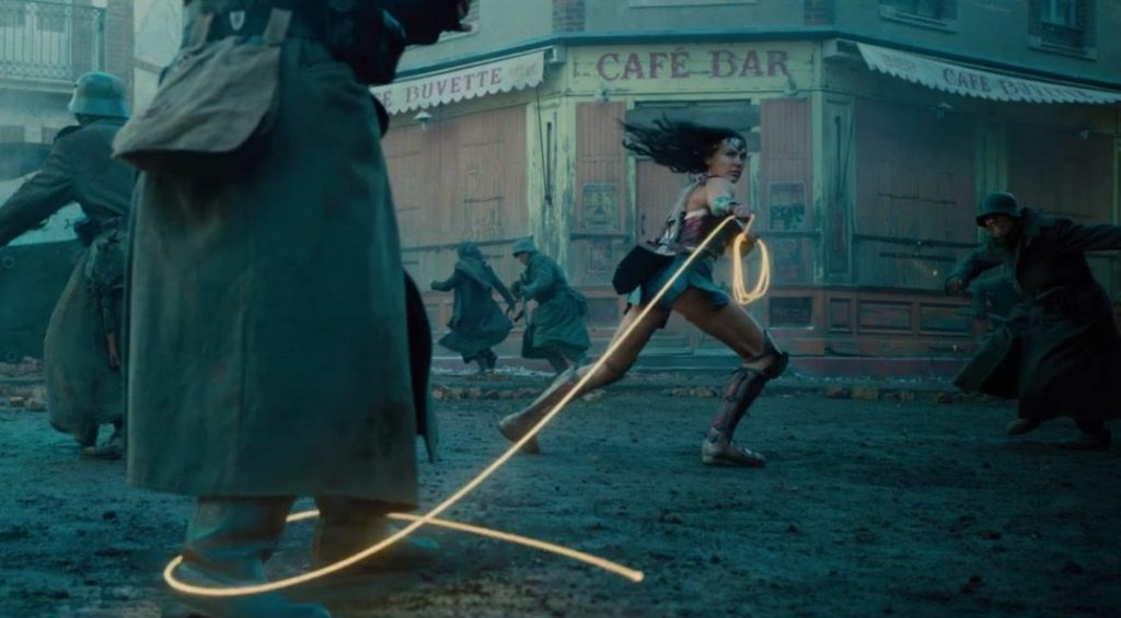 Wonder Woman wields the Lasso of Truth