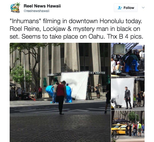 Photos from the set of Inhumans
