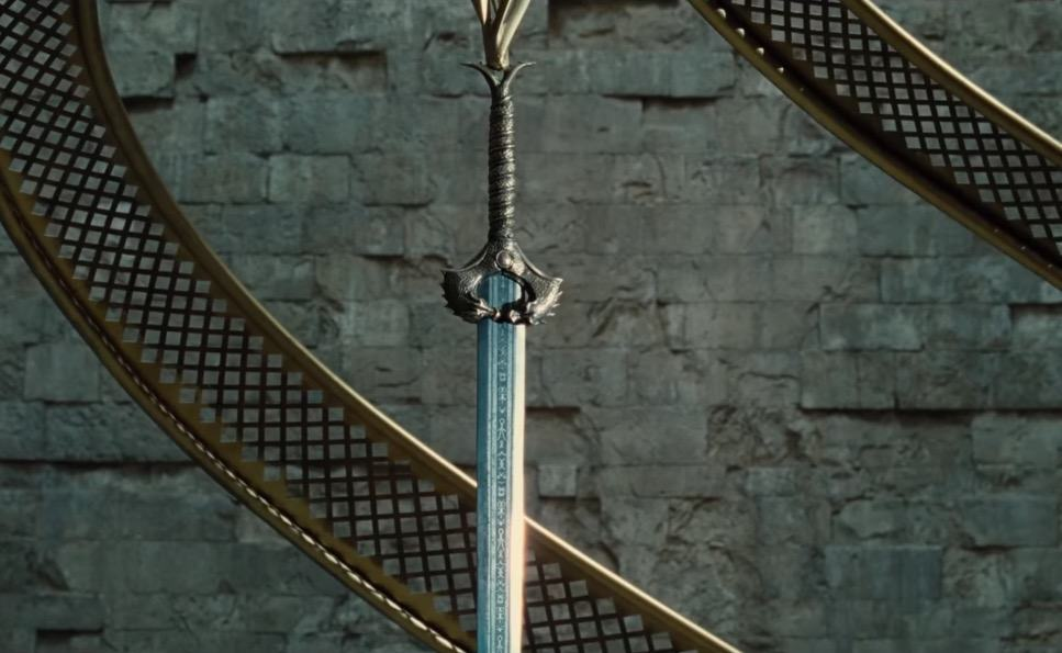 The God Killer Sword in the latest Wonder Woman trailer