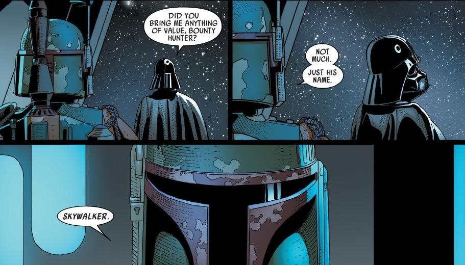 Boba Fett and Darth Vader in Marvel's Comics