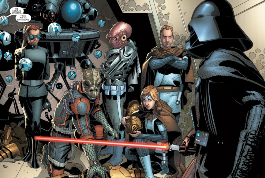Darth Vader and his replacements in the Marvel Comics series