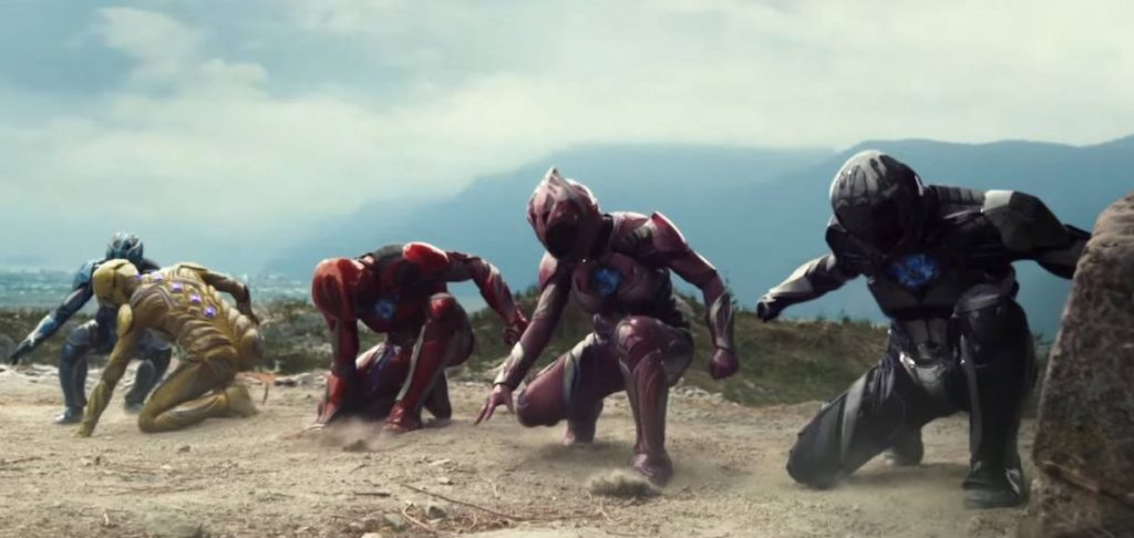 The Power Rangers go to battle