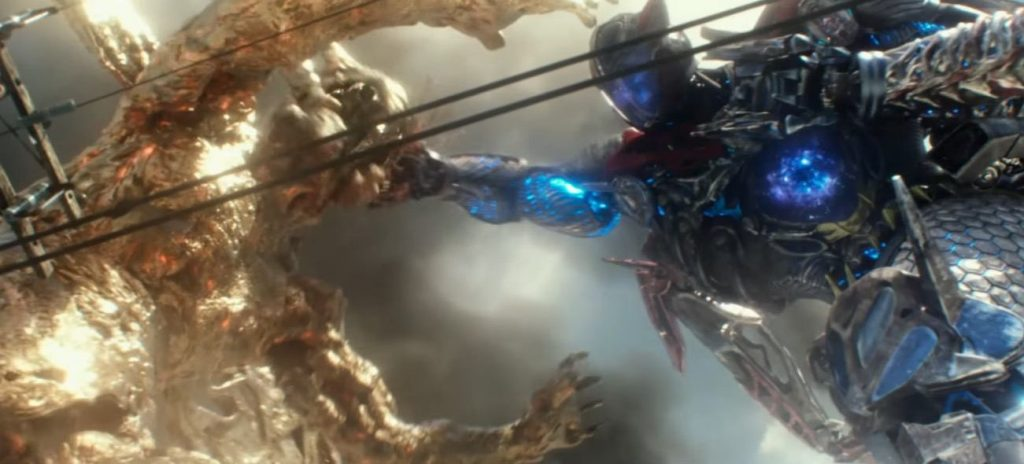 The climactic final battle in Power Rangers