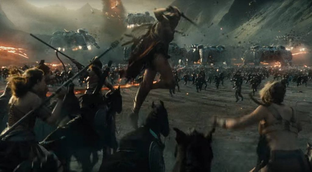 Themyscirans charge into battle together in Justice League