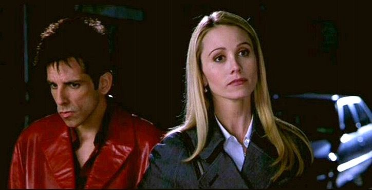 Ben Stiller and Christine Taylor pose for the camera in Zoolander
