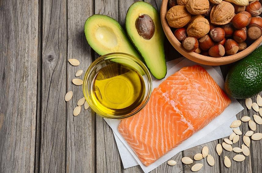 fish, avocado and nuts