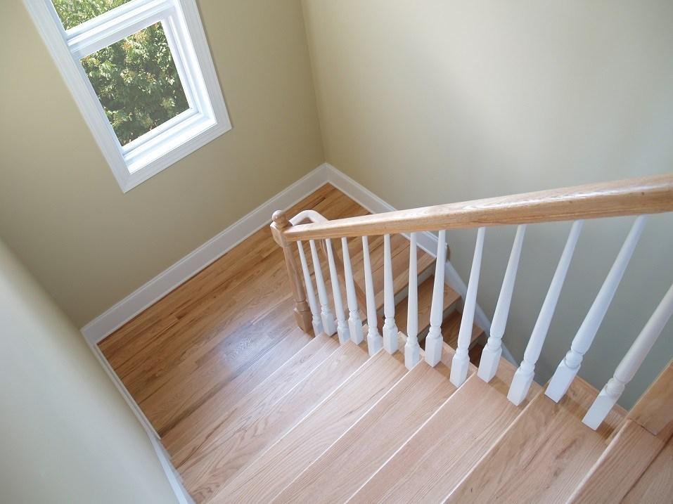 wooden stairwell