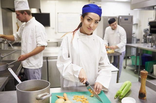 Students Training To Work In Catering Industry