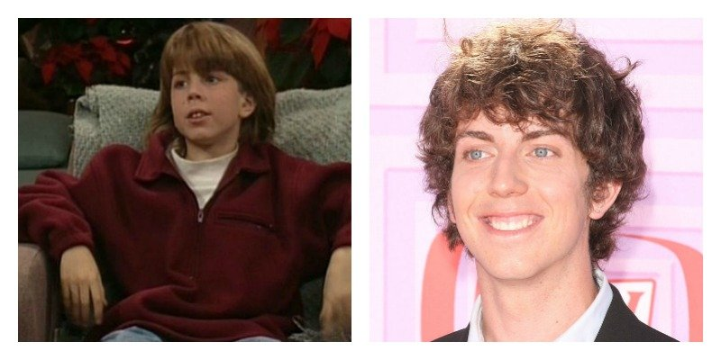On the left is a picture of Taran Noah Smith on Home Improvement. On the right is a picture of Taran Noah Smith smiling on the red carpet.