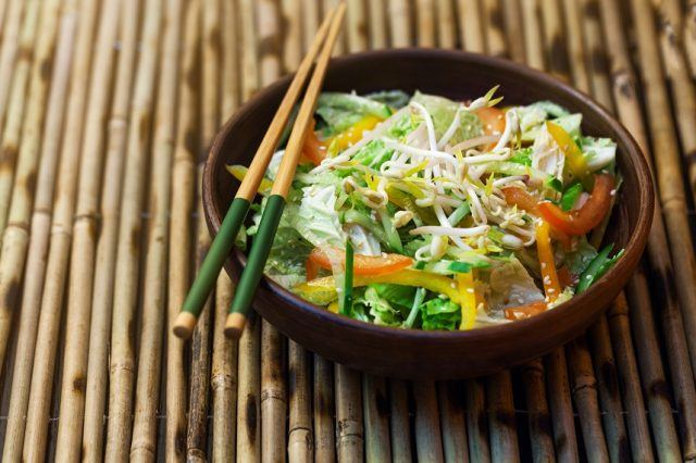 Chicken salad is a much healthier option than fried meat on a bun.