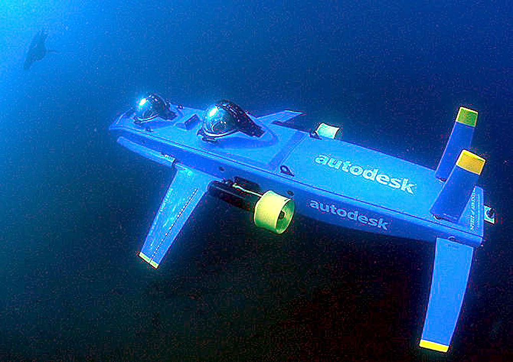 The Deep Flight Aviator, a state-of-the-art winged submersible designed to fly underwater