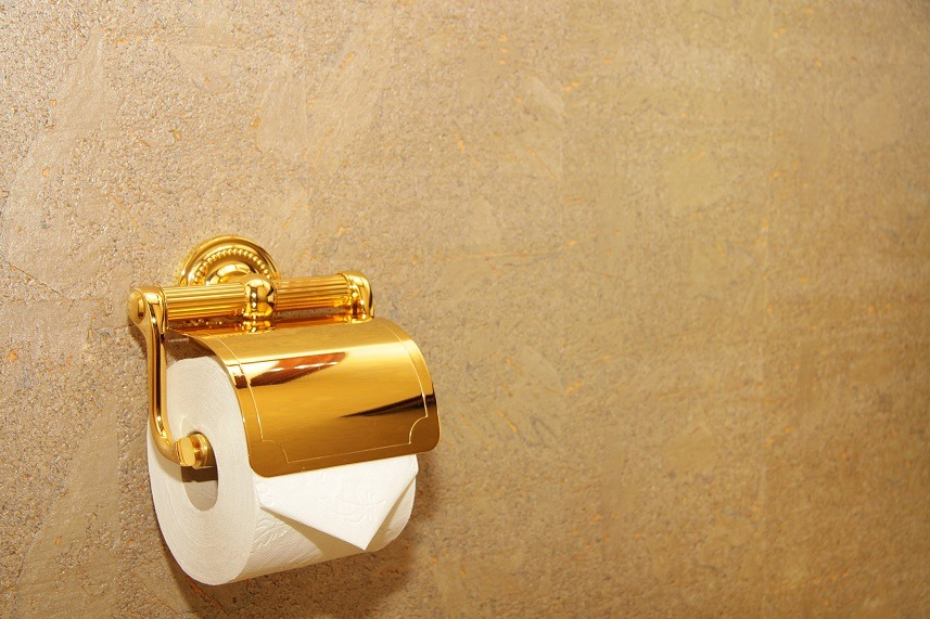 Golden toiled paper