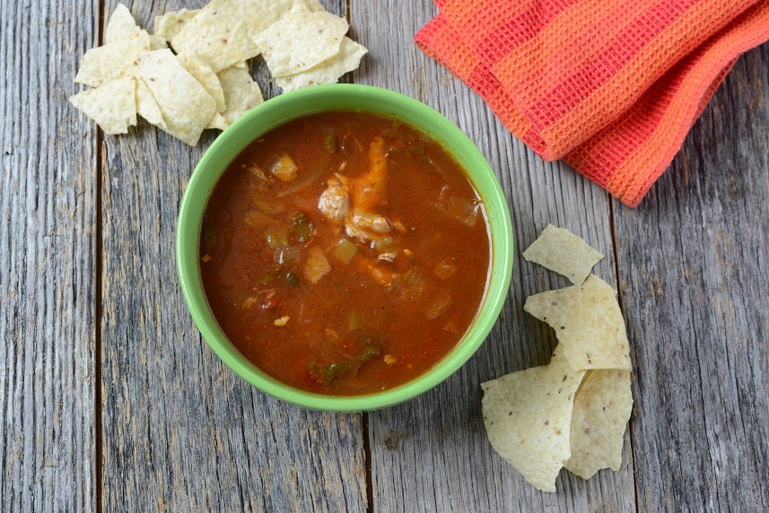 Tortilla Soup with Cheese