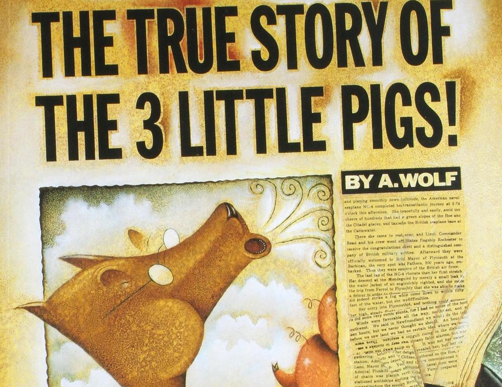 cover art for The True Story of the Three Little Pigs