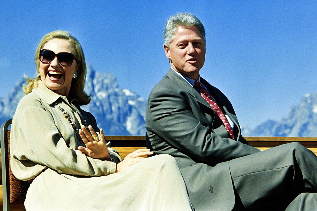 Hillary and Bill Clinton at the Grand Teton National Park