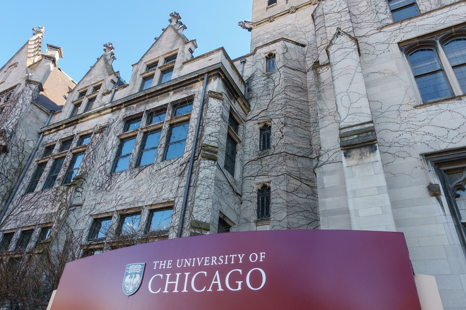 A building at the University of Chicago
