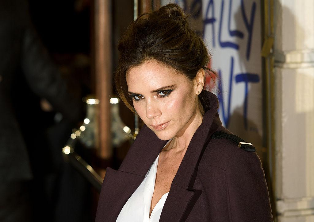 Victoria Beckham, member of the British pop girl group Spice Girls