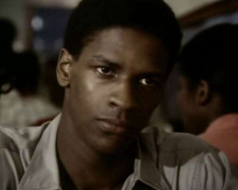 Young Denzel Washington in Wilma.