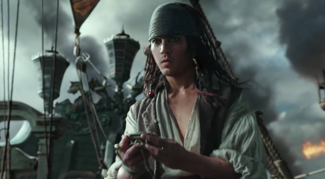 A young Jack Sparrow in the new Pirates of the Caribbean