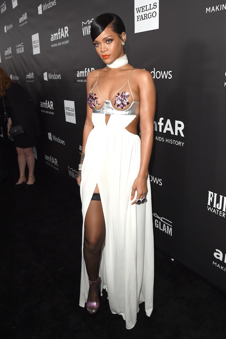 Rihanna attends amfAR LA Inspiration Gala honoring Tom Ford at Milk Studios