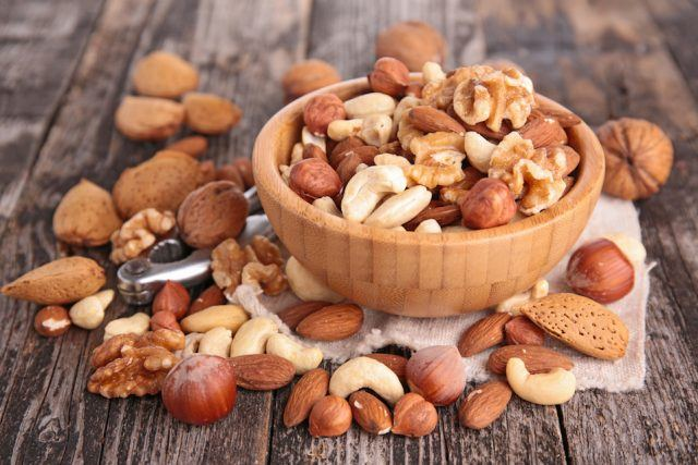 a bowl of mixed nuts