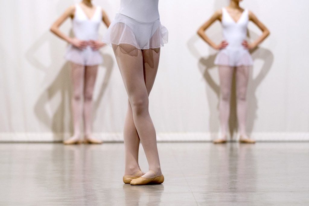 Ballerinas performing ballet