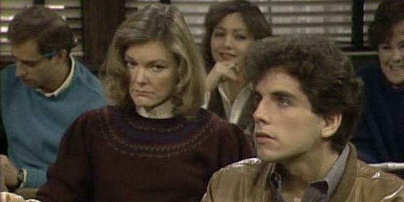 Young Ben Stiller is in a classroom with other students in Kate & Allie.