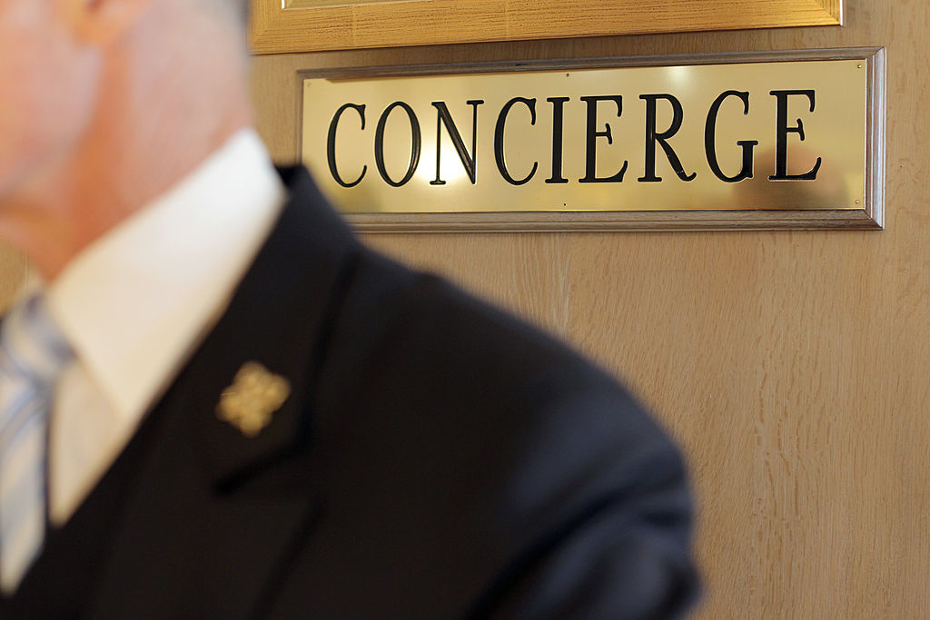 A concierge of a luxury hotel