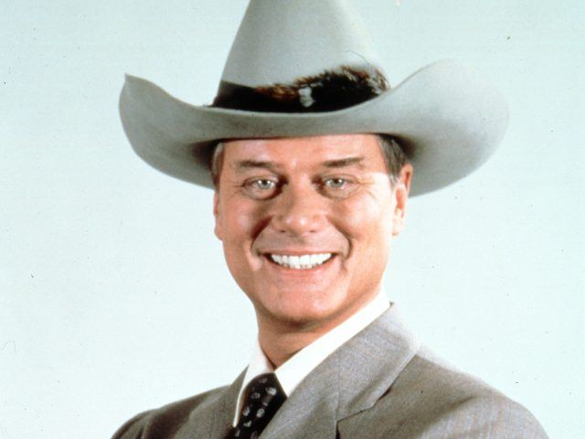 A promotional photo of J.R. Ewing (Larry Bagman) from 'Dallas'
