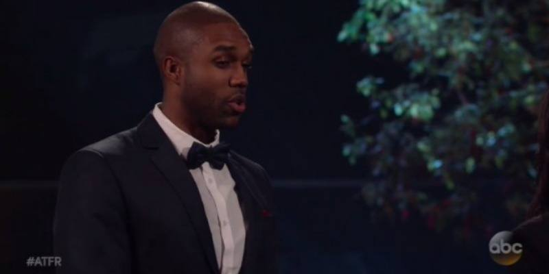 """Demario on """"After the Rose"""" talking to Rachel."""