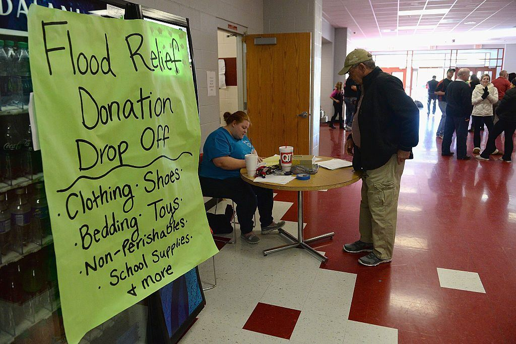 flood donation dropoff
