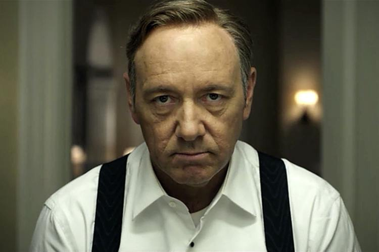 Kevin Spacey plays Frank Underwood in Netflix's House of Cards