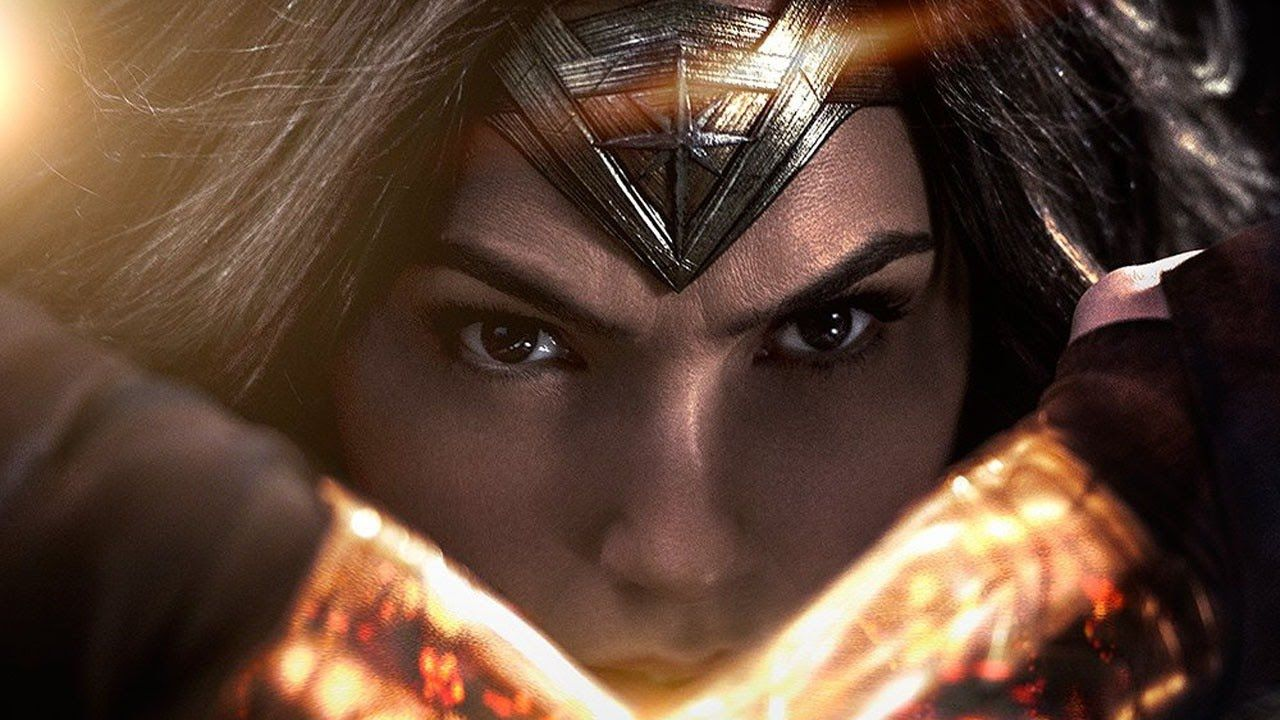 Gal Gadot as Wonder Woman looking fierce