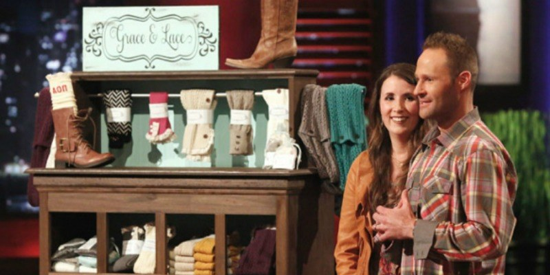 Melissa and Rick Hinnant pitching Grace Lace on Shark Tank.