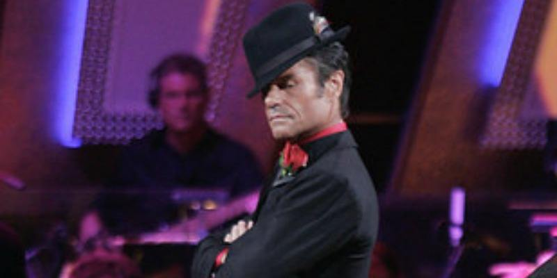 Harry Hamlin posing on Dancing With the Stars.