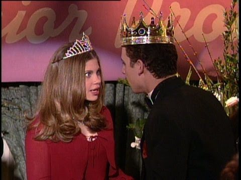 Topanga and Cory are crowned Prom King and Queen in a scene from Boy Meets World