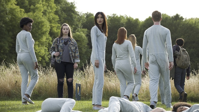 Gemma Chan and Lucy Carless in Season 2 of AMC's Humans