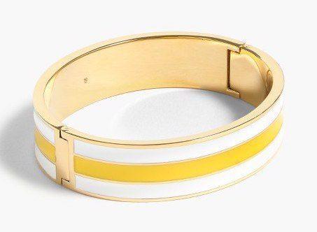 Rugby-Stripe Clamp Bracelet