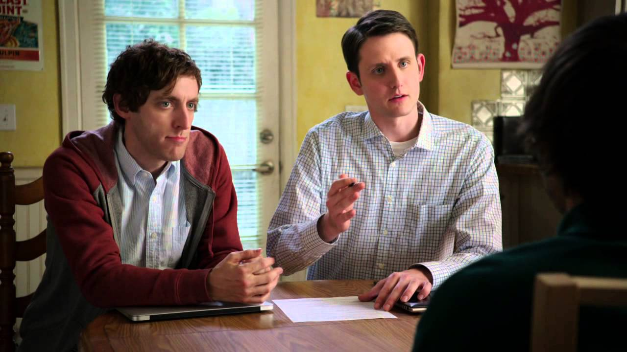 """The boys from """"Silicon Valley"""" look over a resume and interview a job candidate"""