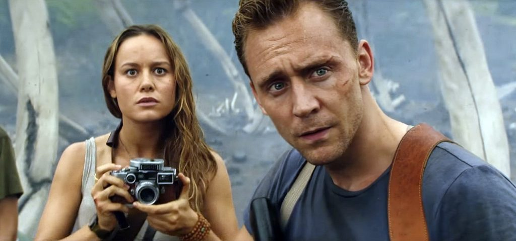 Brie Larson and Tom Hiddleston in Kong: Skull Island