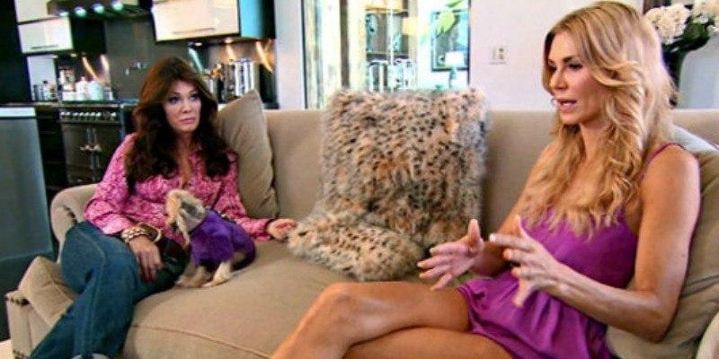Lisa Vanderpump and Brandi Glanville talking on Real Housewives of Beverly Hills.