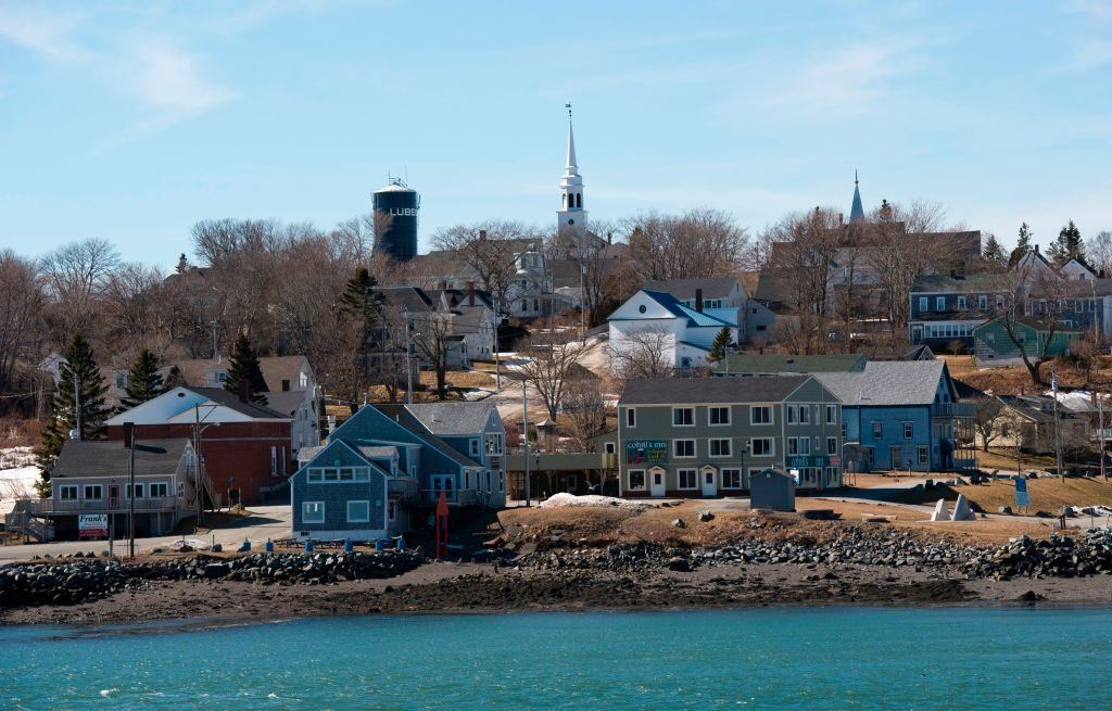 A view of Lubec, Maine, from the water