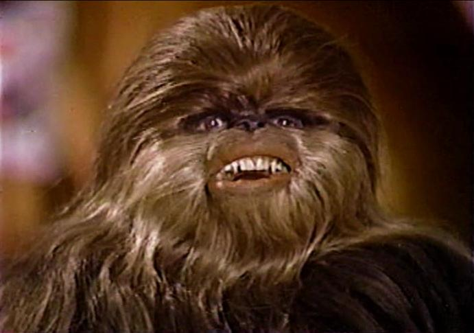 Chewie's son, Lumpy, in the Star Wars Christmas Special