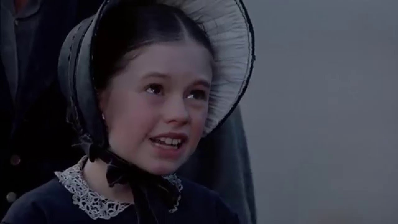 A young Anna Paquin plays Flora in a scene from The Piano