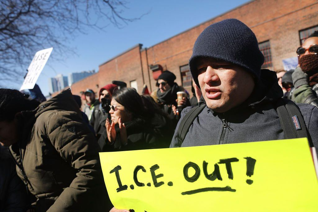 Immigrant workers and activists protest in New York City.