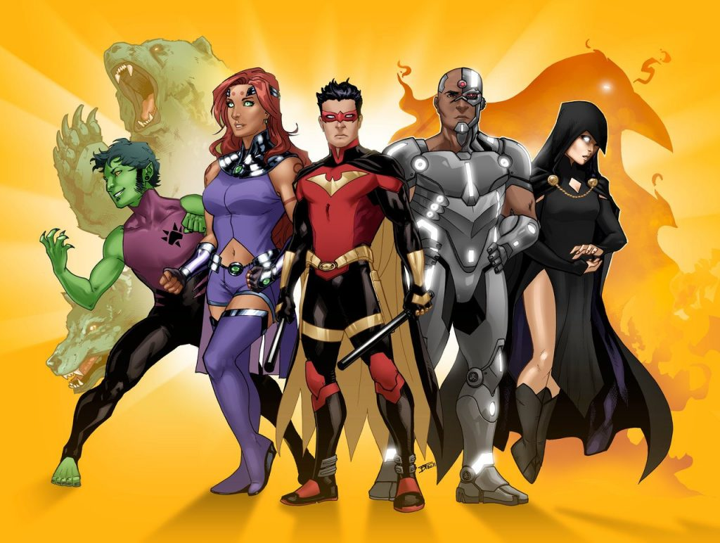 Nightwing and the Teen Titans