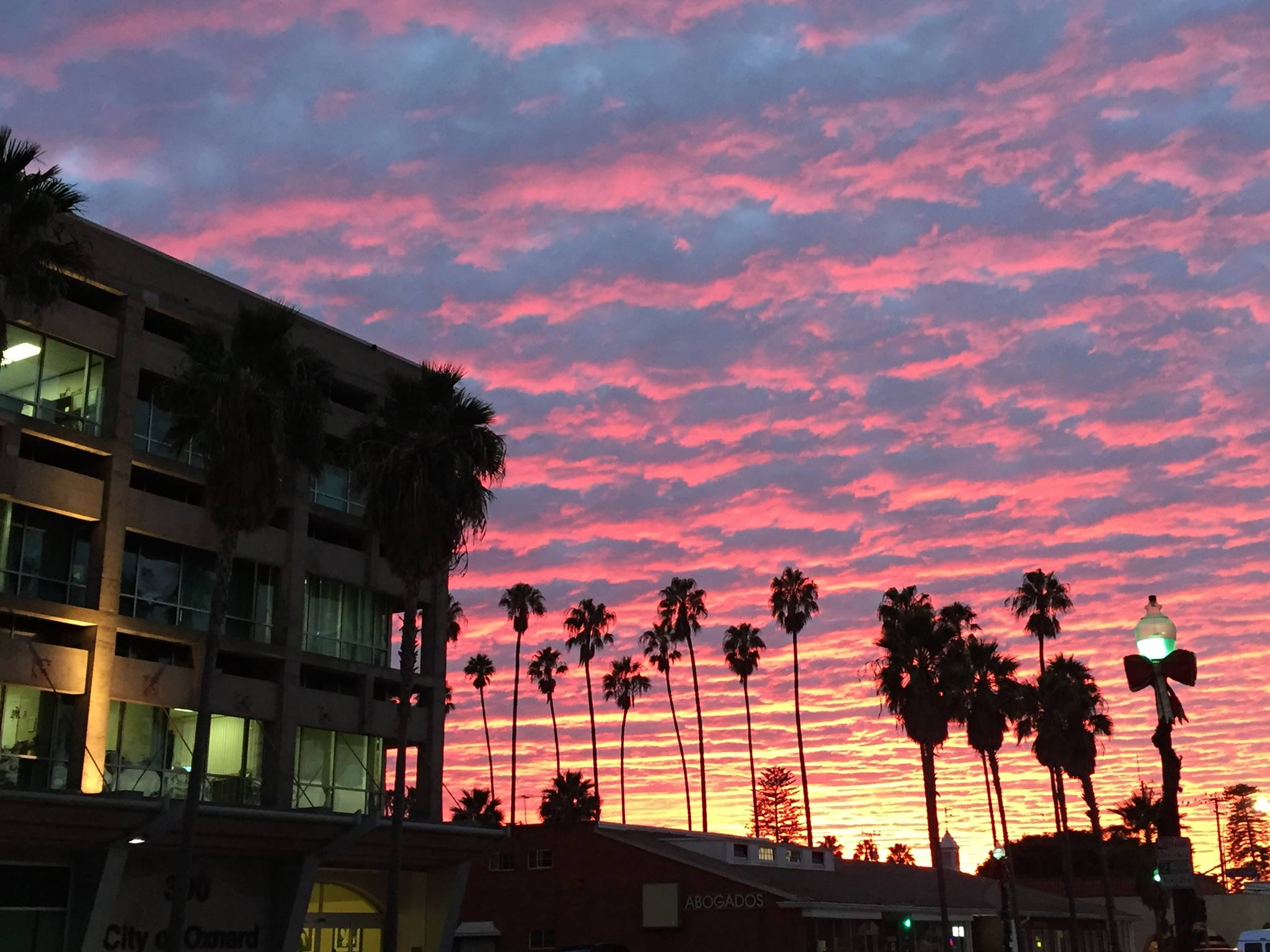 A sunset over Oxnard